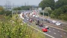 Cars on motorway