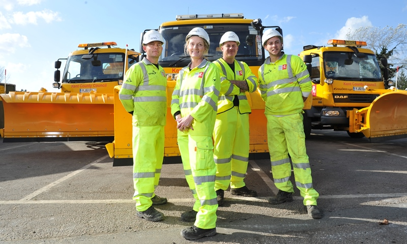 Ready for action – Kent's gritters on standby