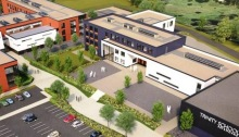 An artist's impression of what the Sevenoaks Grammar annexe and Trinity School will look like.