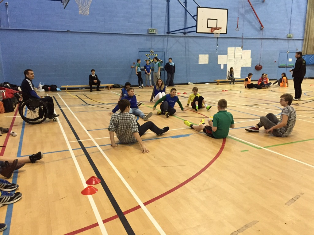 Activities throughout the day allowed the group to gain a better understanding of disability – such as the bum shuffle ball tournament.