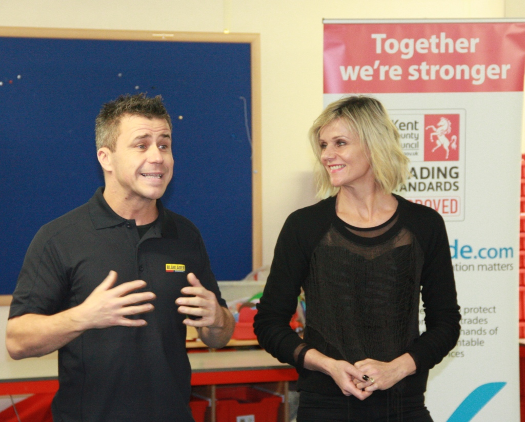 Craig Phillips and Linda Barker at the partnership launch.