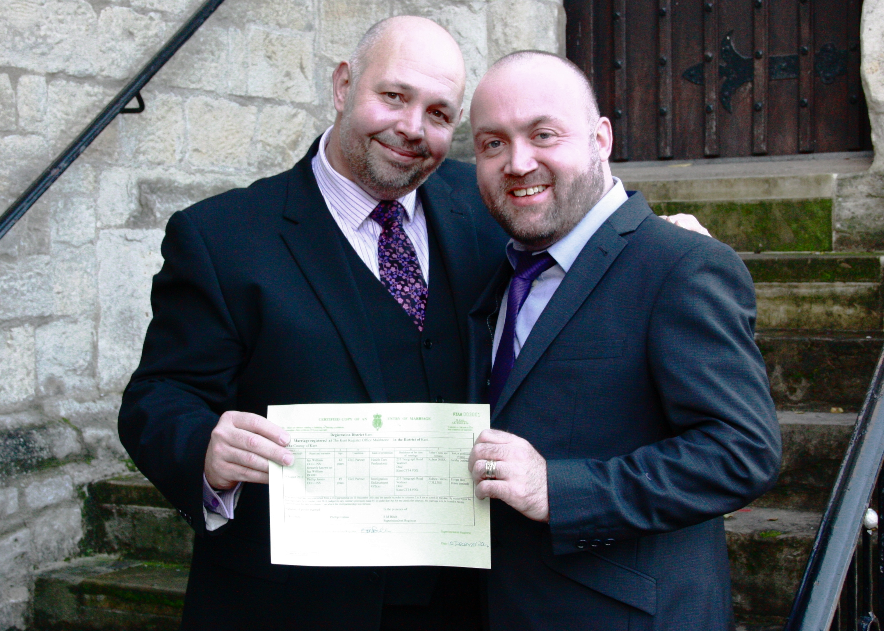 Couple become first in Kent to have civil partnership conversion