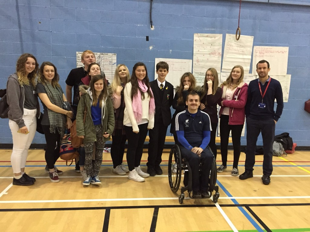 A celebration of children's volunteering in the community saw them get a talk from inspirational Paralympian Andy Barrow.
