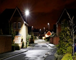 The difference LED streetlights make.