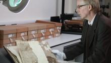 KCC archivist Dr Mark Bateson with the Sandwich Magna Carta