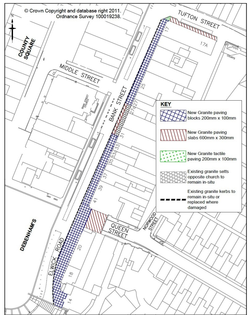 The overall plan for the Shared Space makeover