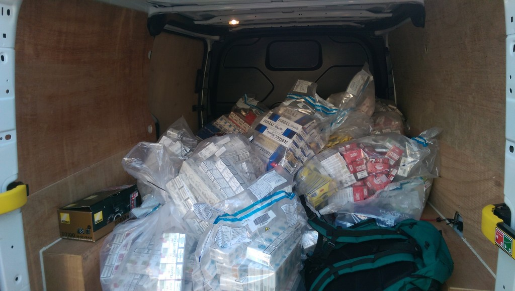 The haul of illegal tobacco seized by KCC Trading Standards officers