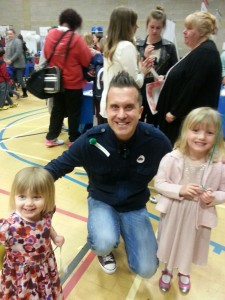 Hope and Daisy Stickings with Phil Gallagher AKA Mr Maker