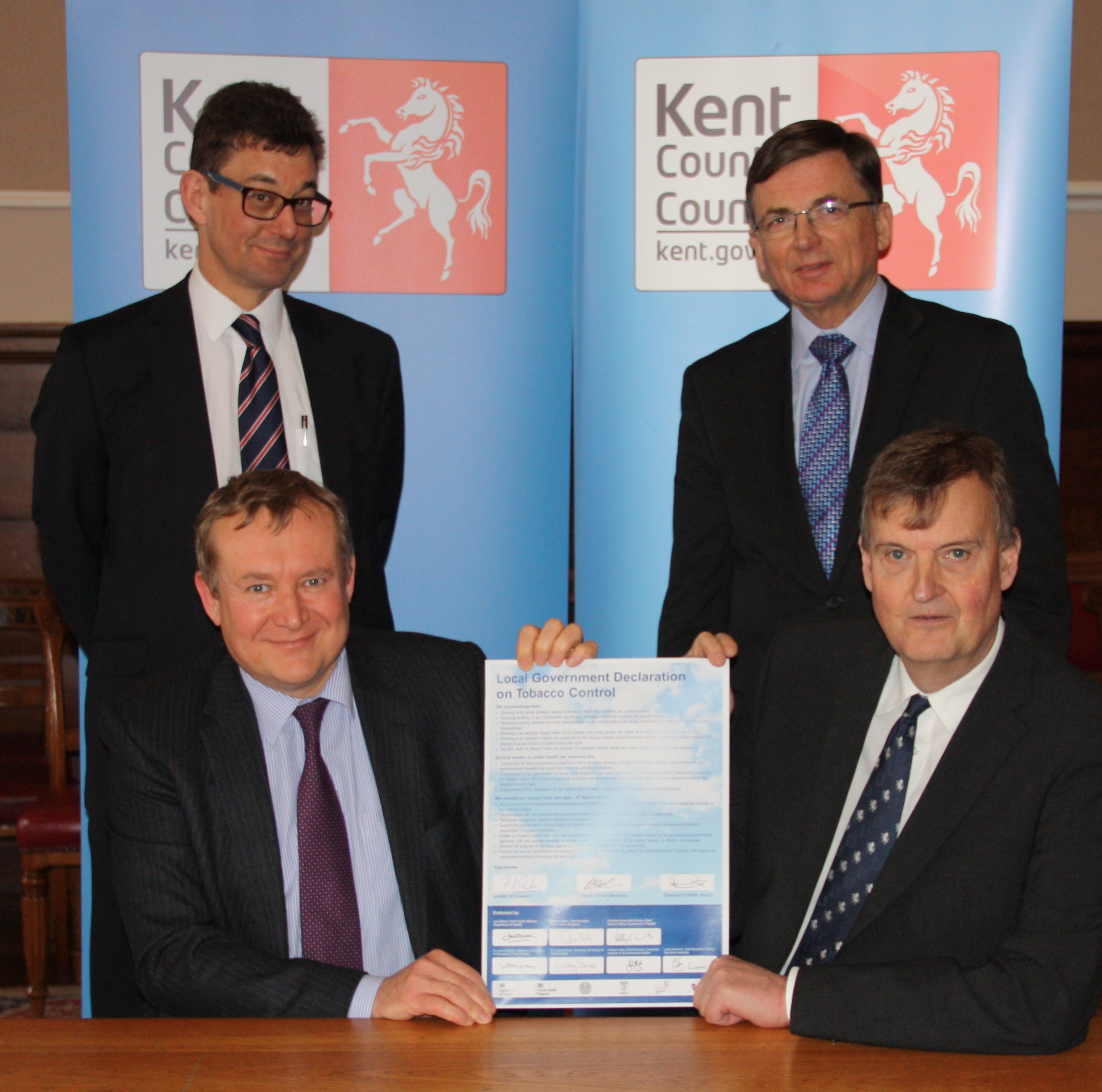 Kent commitment signing on No Smoking Day