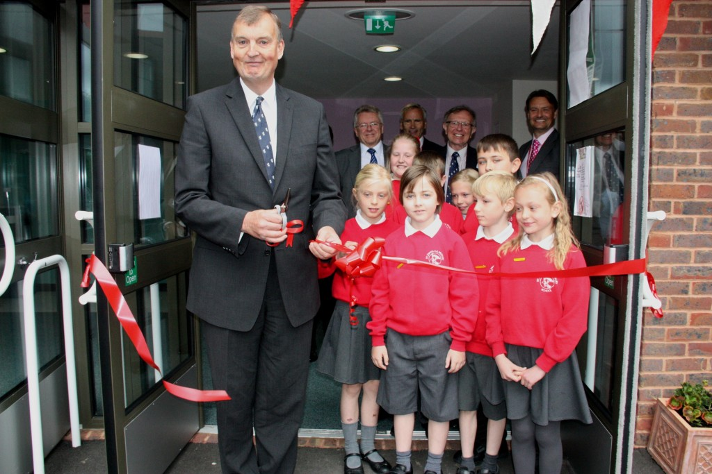 The school was officially opened on Tuesday.