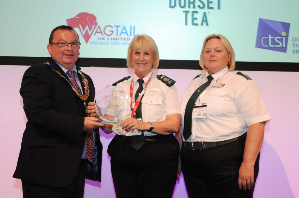 Mark McGinty, Chartered Trading Standards Institute chairman. Janet Greenroyd and Dawn Riach-Brown, Community Wardens.