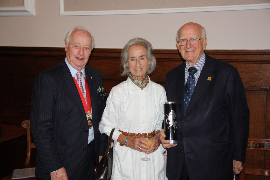 KCC Chairman Mike Harrison with Sir Robert and his wife Margaret, Lady Worcester