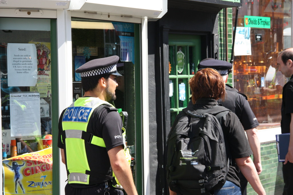 Officers from KCC and Medway Trading Standards, with the support of police, targeted 16 town centre shops across the county where substances were seized in raids last summer.