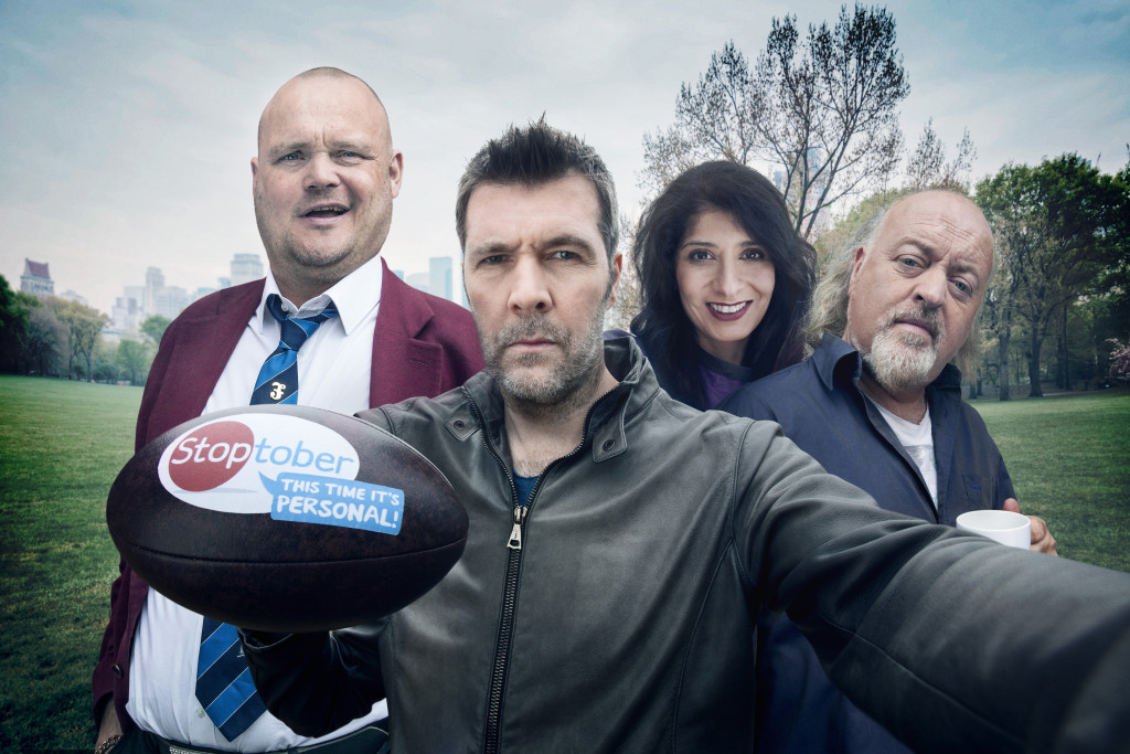 Al Murray, Rhod Gilbert, Shappi Khorsandi and Bill Bailey are encouraging smokers to take part in this year's Stoptober and quit for 28 days from 1st October. Those who quit smoking for 28 days are five times more likely to ditch the habit for good. For your personalised free support search Stoptober and sign-up.