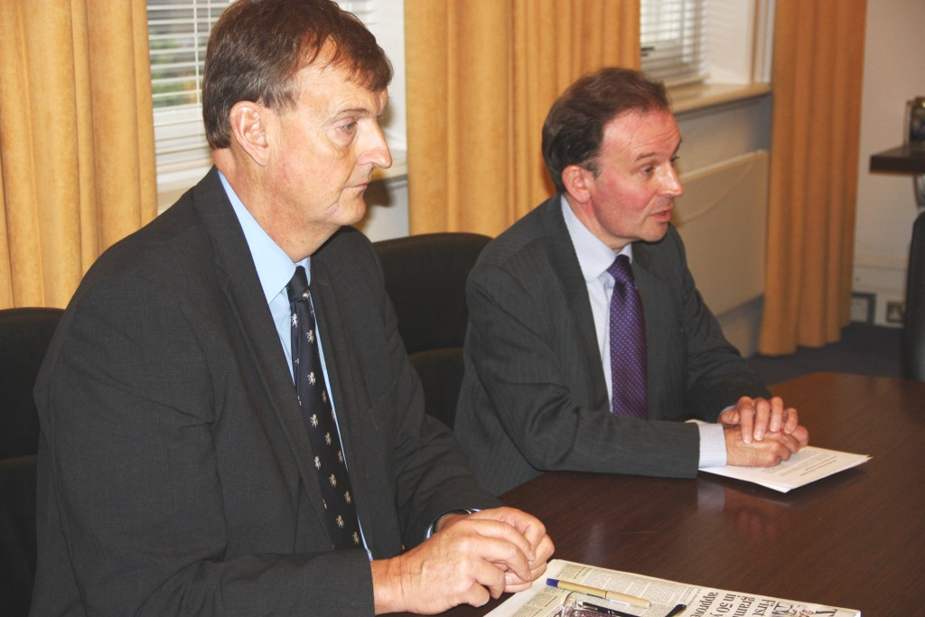 KCC Leader Paul Carter and education cabinet member Roger Gough at this morning's press conference