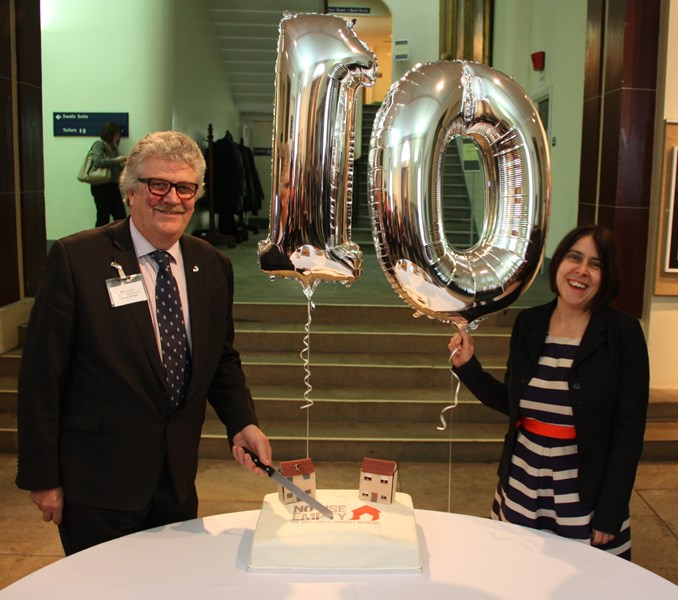 Celebrating 10 years of success for 'No Use Empty' - KCC's Mark Dance and Helen Williams, Chief Executive, Empty Homes