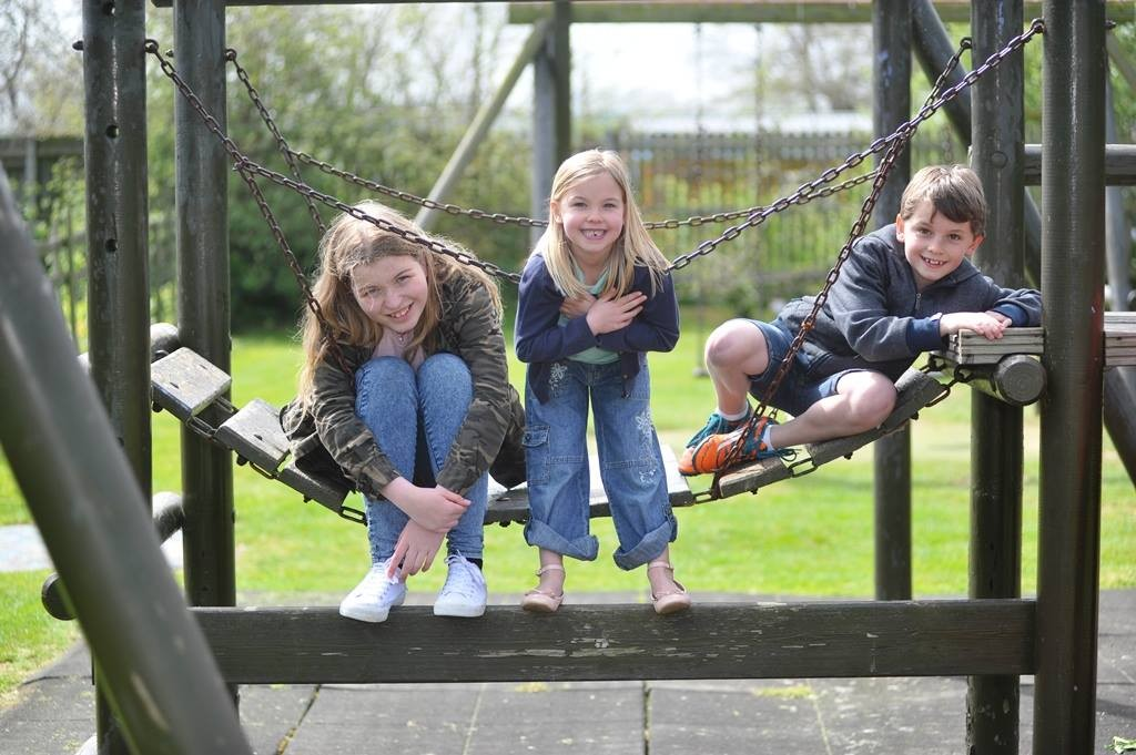 Fostering kids on swing