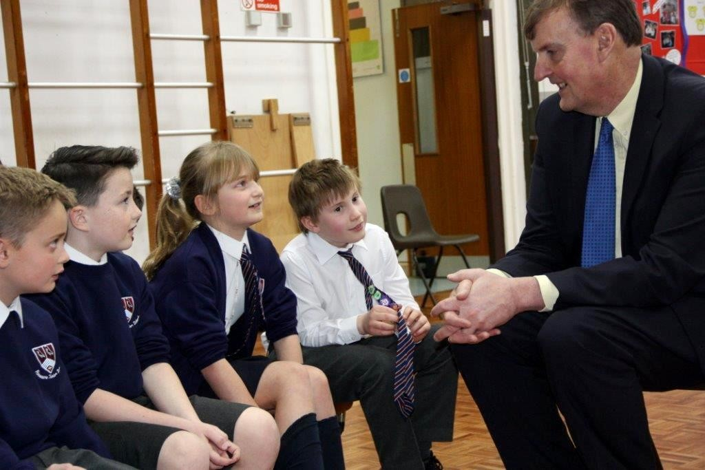 Paul Carter visited Roseacre Primary school to talk to pupils about his job as Leader of Kent County Council.