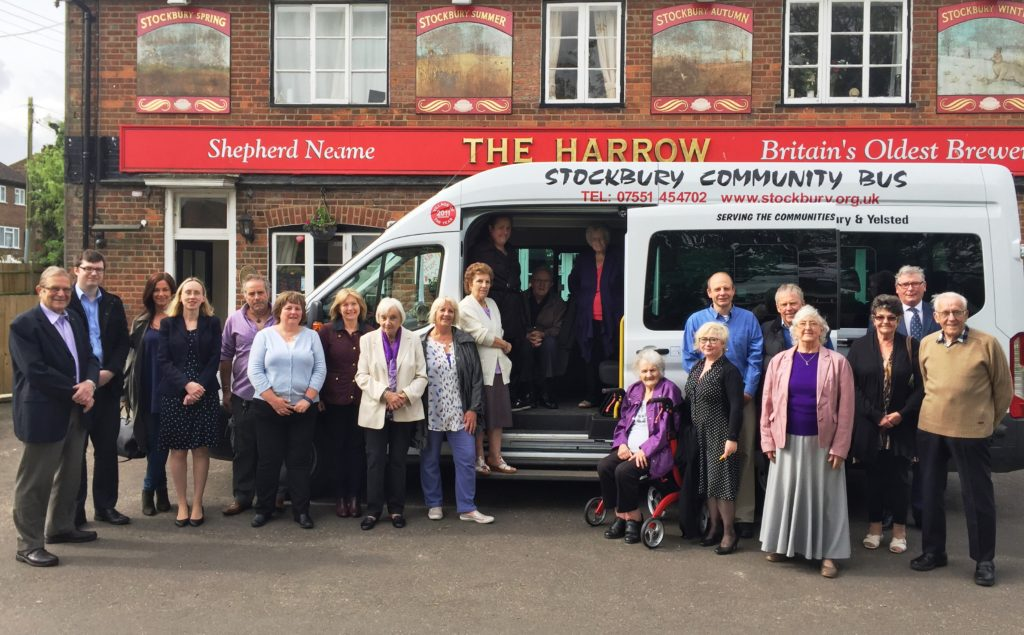 A new community bus run by a small army of volunteers has been unveiled to its passengers.