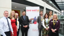 Shaw Trust and Porchlight join Graham Gibbens and KCC colleagues at the Live Well Kent launch