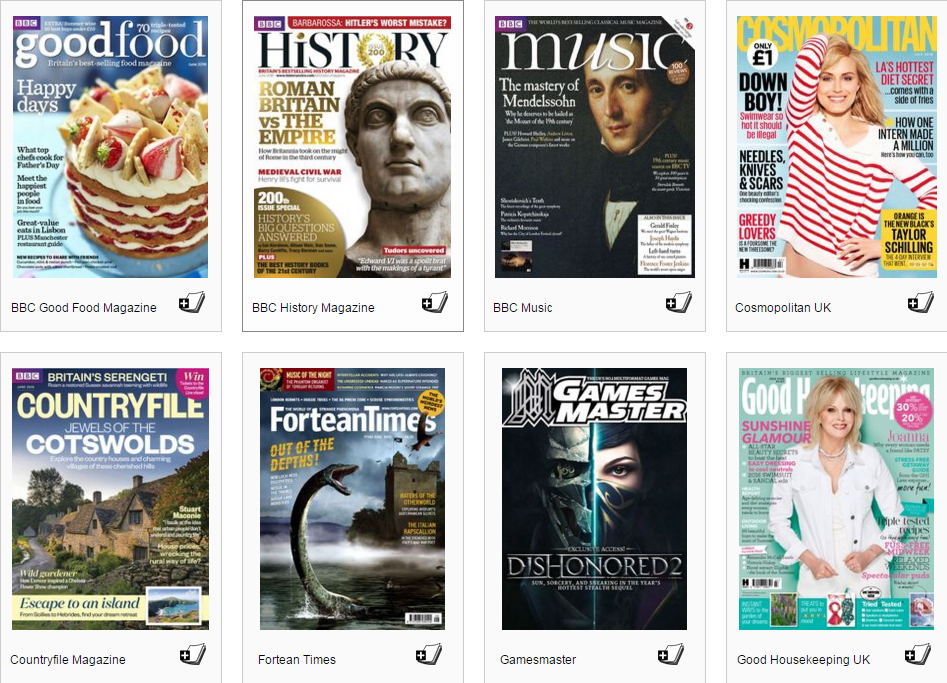 Download and read magazines via Kent Libraries for free