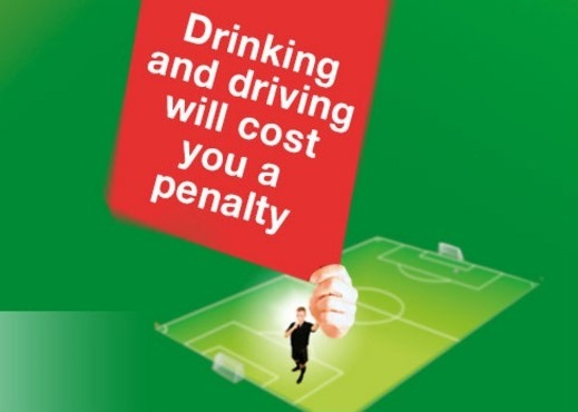 There's no yellow card for drink driving, just a penalty