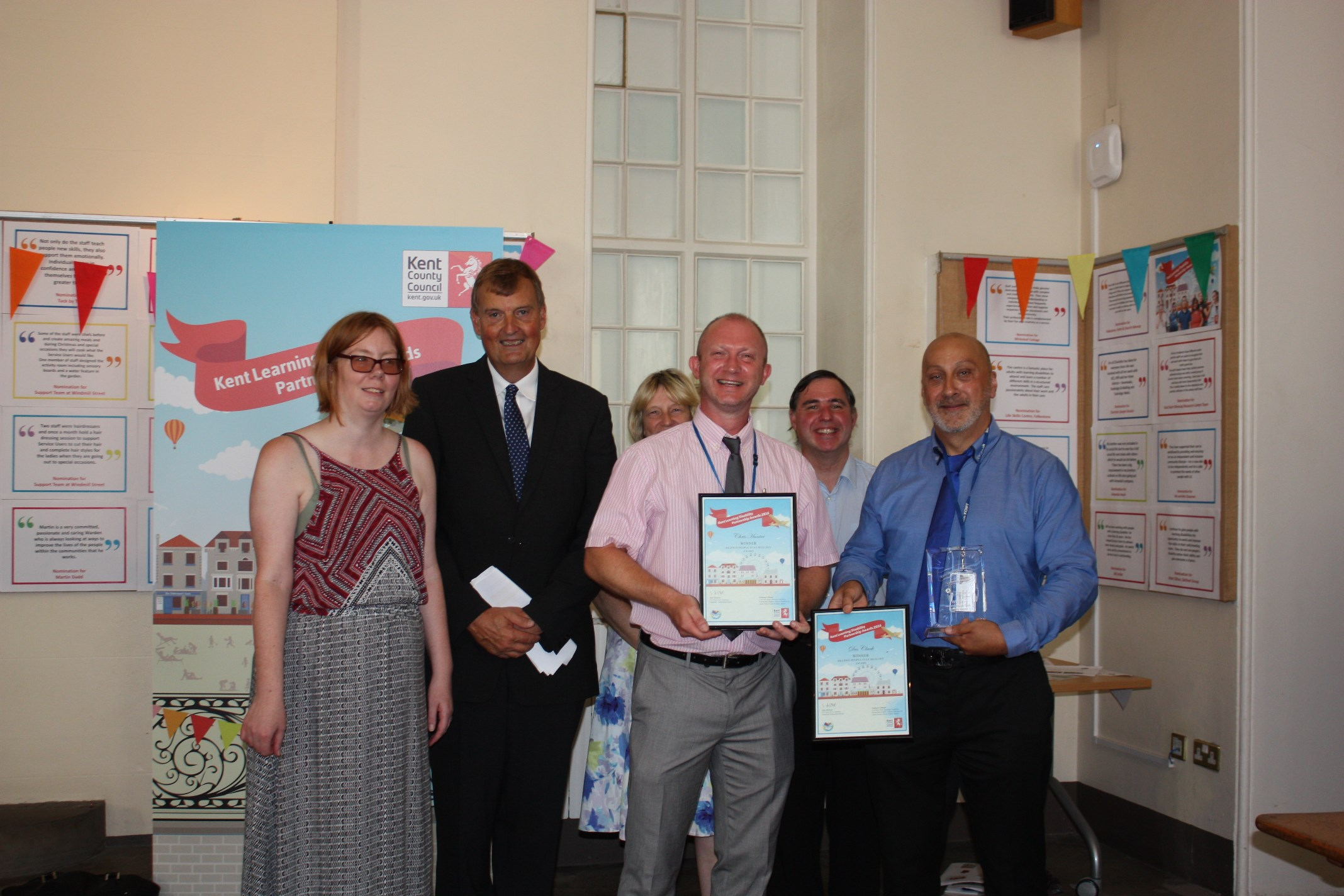 Winners of Kent Learning Disability Partnership Awards announced