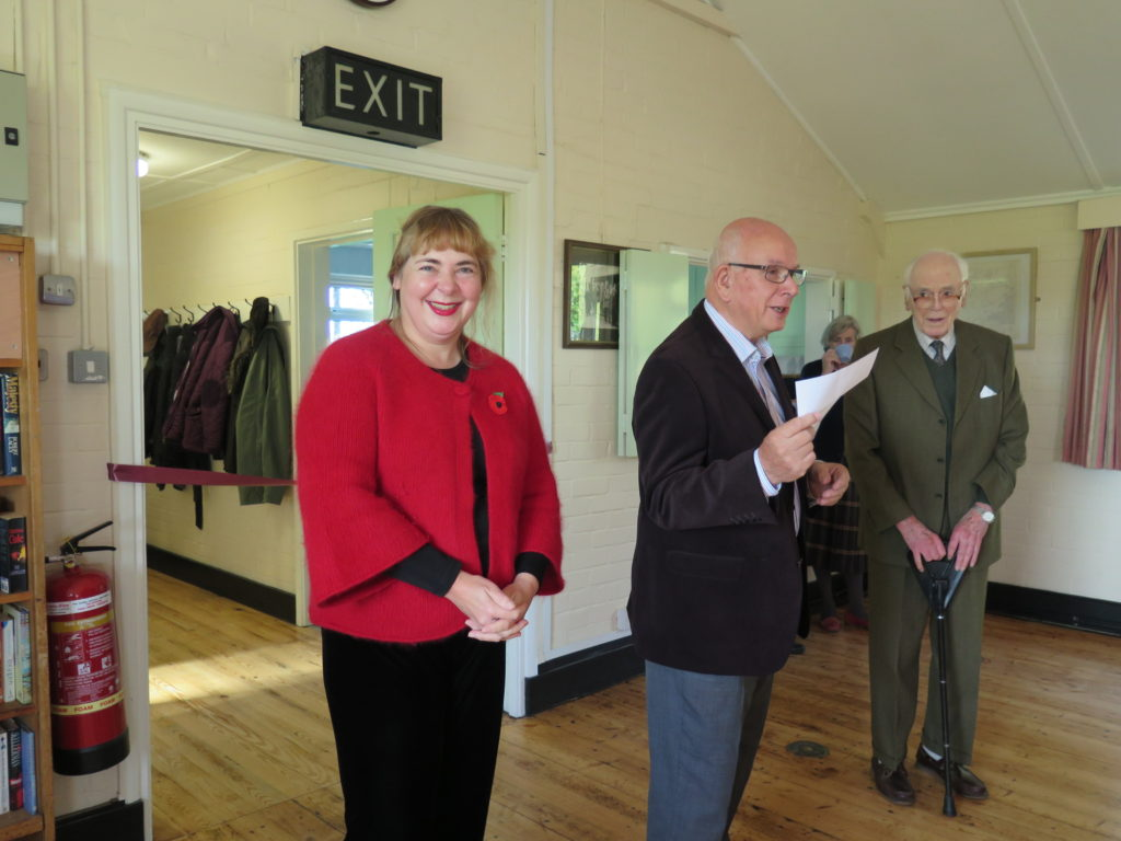 Susan Carey, Robin the chair of the village hall and Sir Charles Jessel