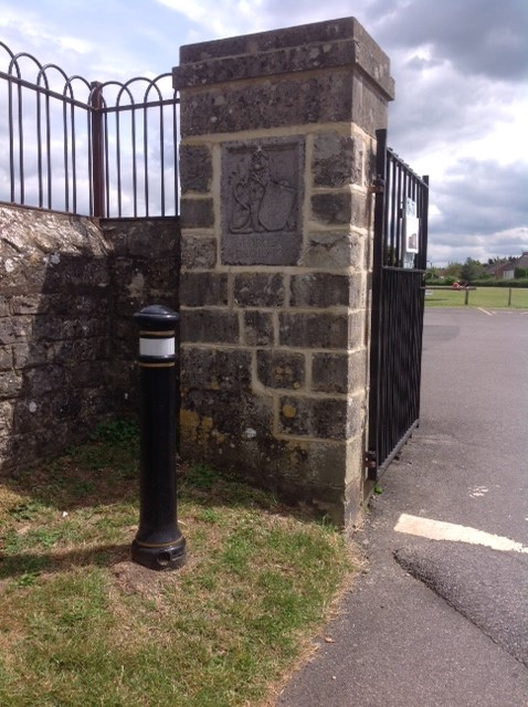 Entrance to the King George V playing field returned to majestic state