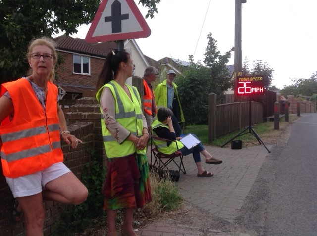 Increased speeding has raised concern among the village residents