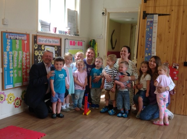 """'It has made such a difference for everyone using the hall "" Said Katy Otham Pre-School Manager"