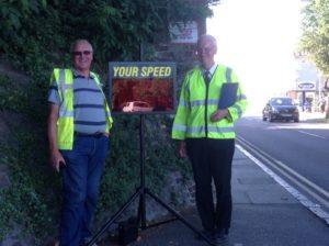 Community Warden Nick supports the Speedwatch scheme in Folkestone NE
