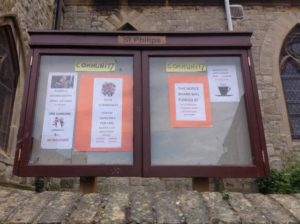 The new noticeboard will help to advertise activities and encourage greater use of the centre.