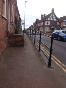 """The railings are such an improvement on what they were before and have made a real difference to the appearance of the town"" said the Town Clerk Mrs Jenkins"