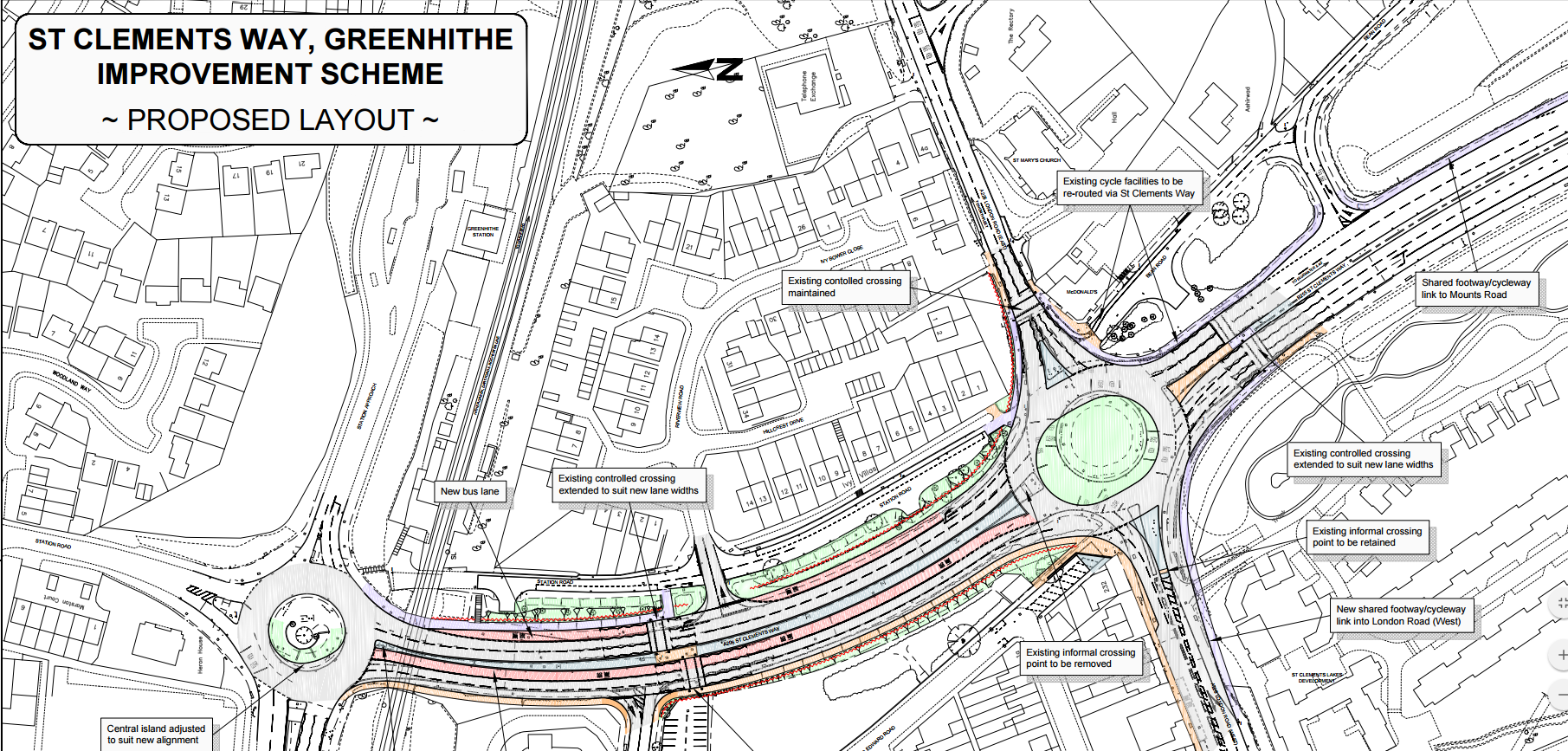 St Clements Way, Greenhithe Improvement Scheme