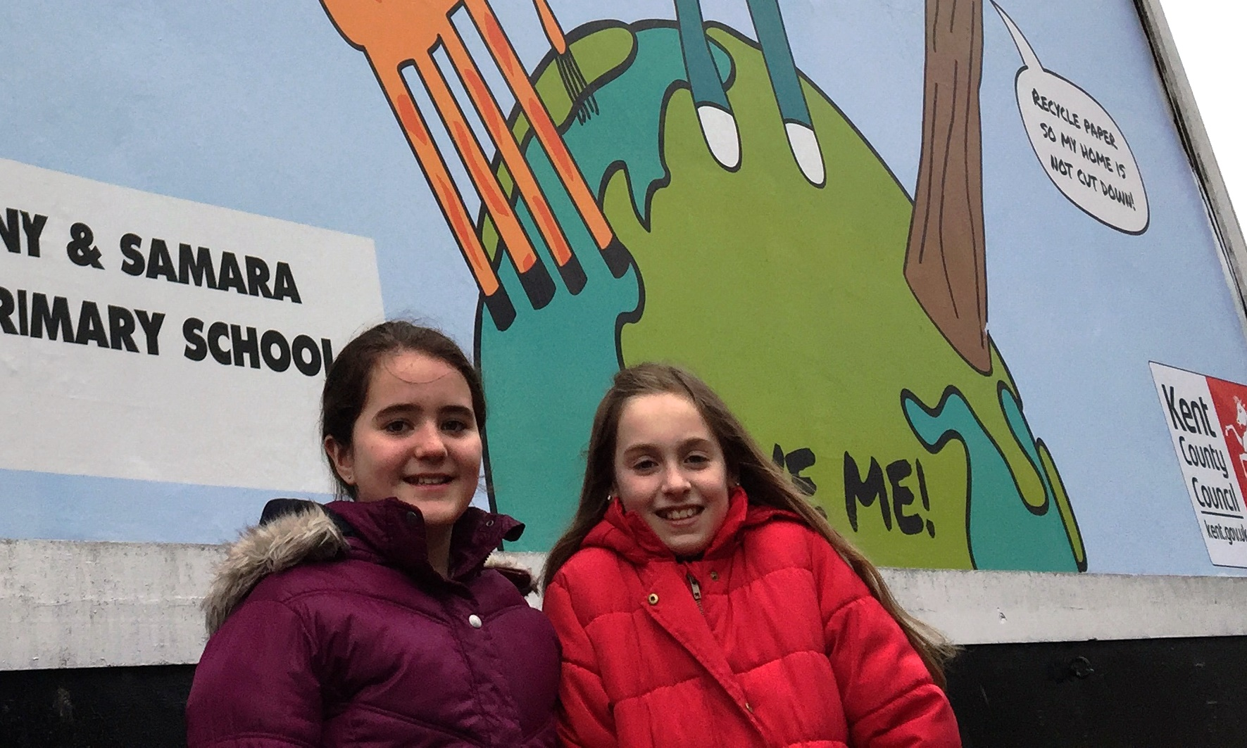 Primary school pupil's recycling messages hit the billboards