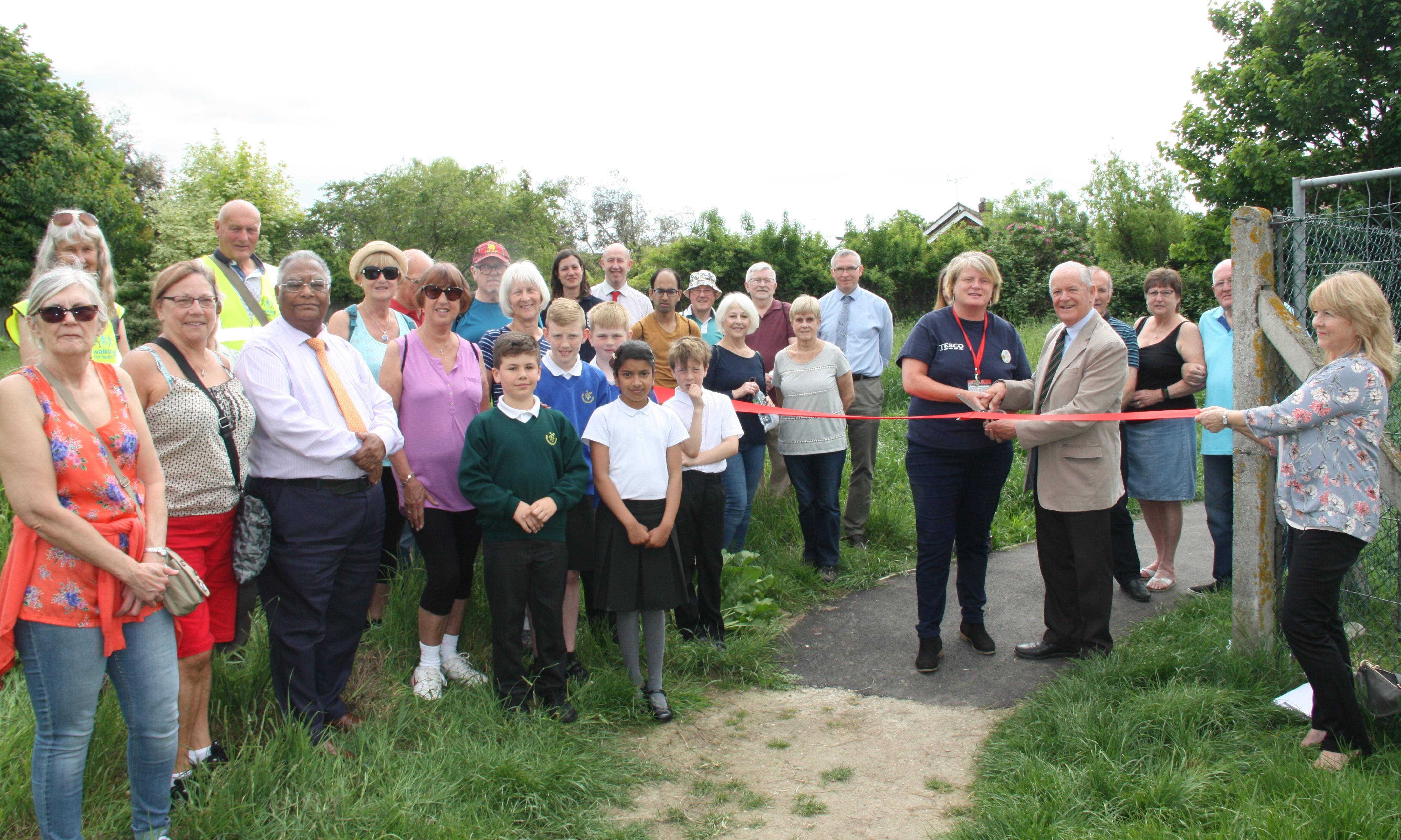 Footpath work helps pupils get to school
