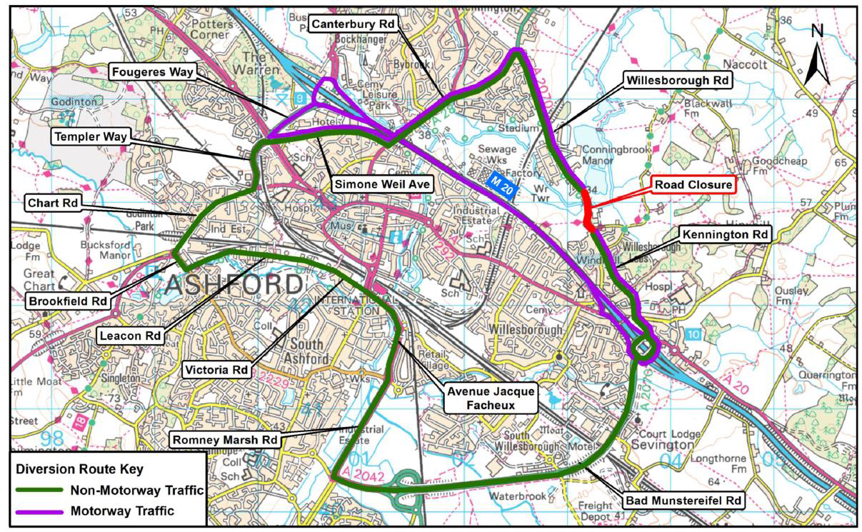 Roadworks on Kennington Road in Ashford due to start later this month