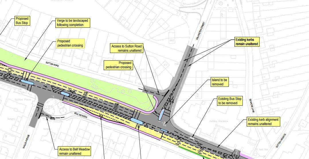 Sutton Road improvement scheme