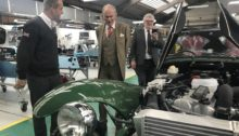 Graham Macdonald, Chief Executive Officer of Caterham Cars, David Brazier. Chairman of Kent County Council and Mark Dance, KCC Cabinet Member for Economic Development