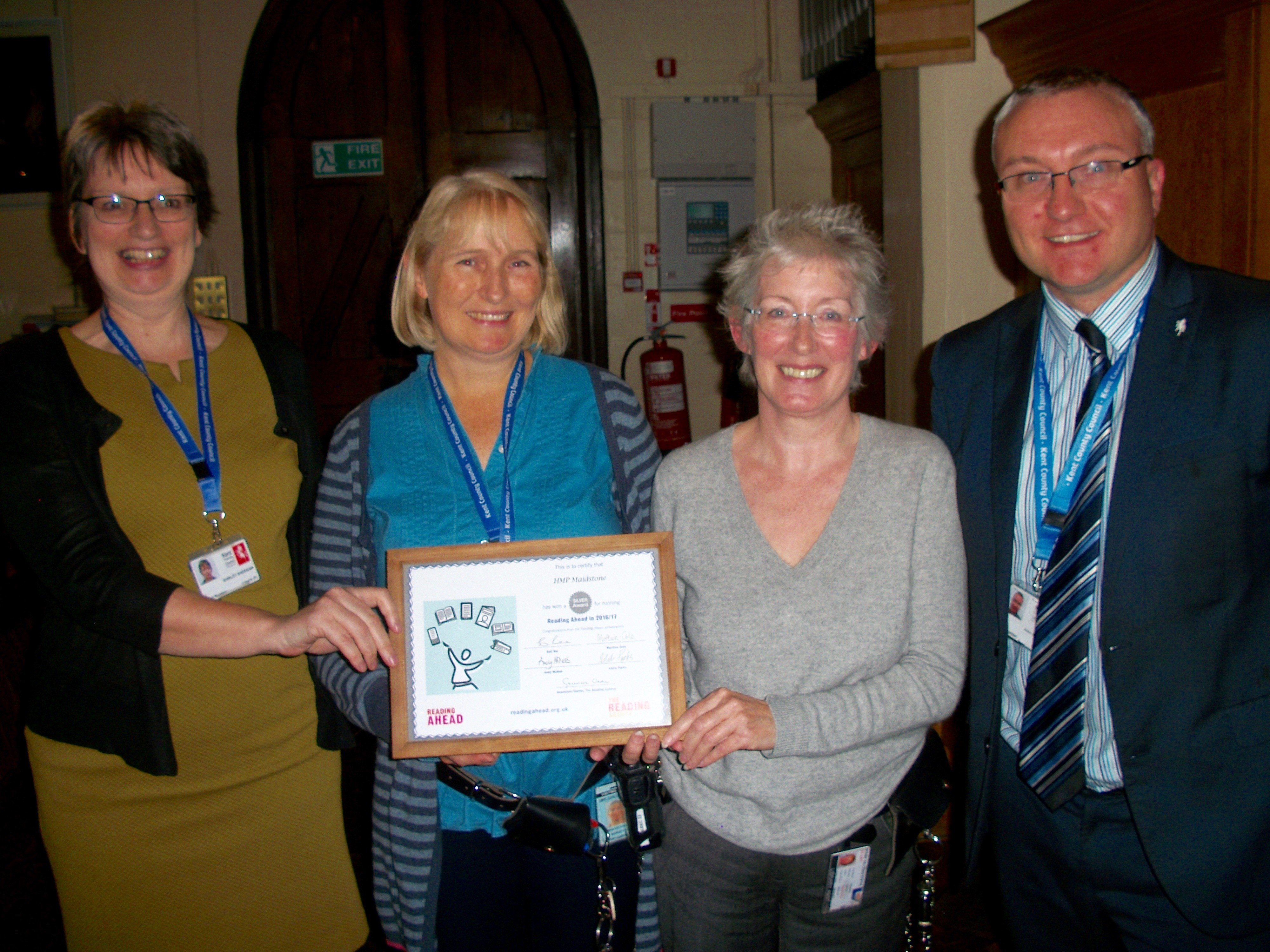 Maidstone prison library awarded silver for reading challenge