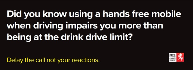 Using A Hands Free Mobile At The Wheel As Dangerous As Drink Driving
