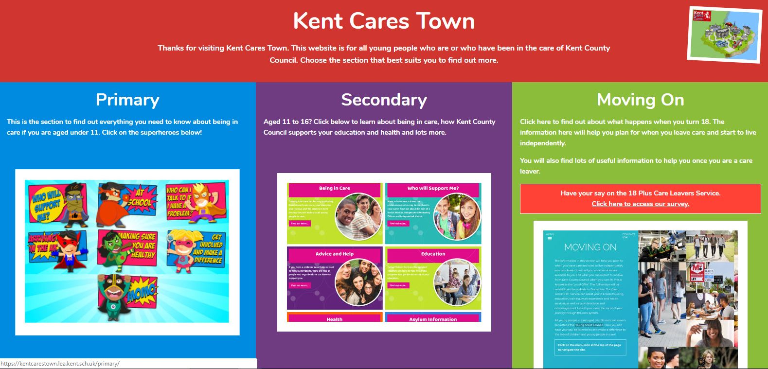 KCC relaunches website for children in care
