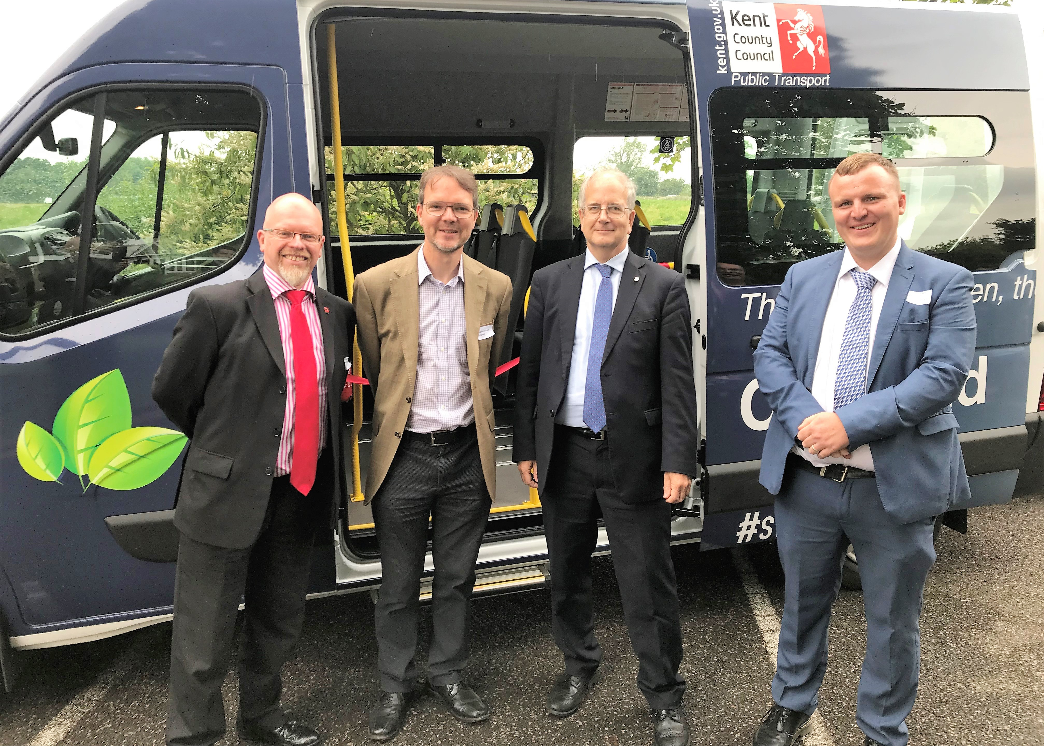 Electric minibus comes to Kent