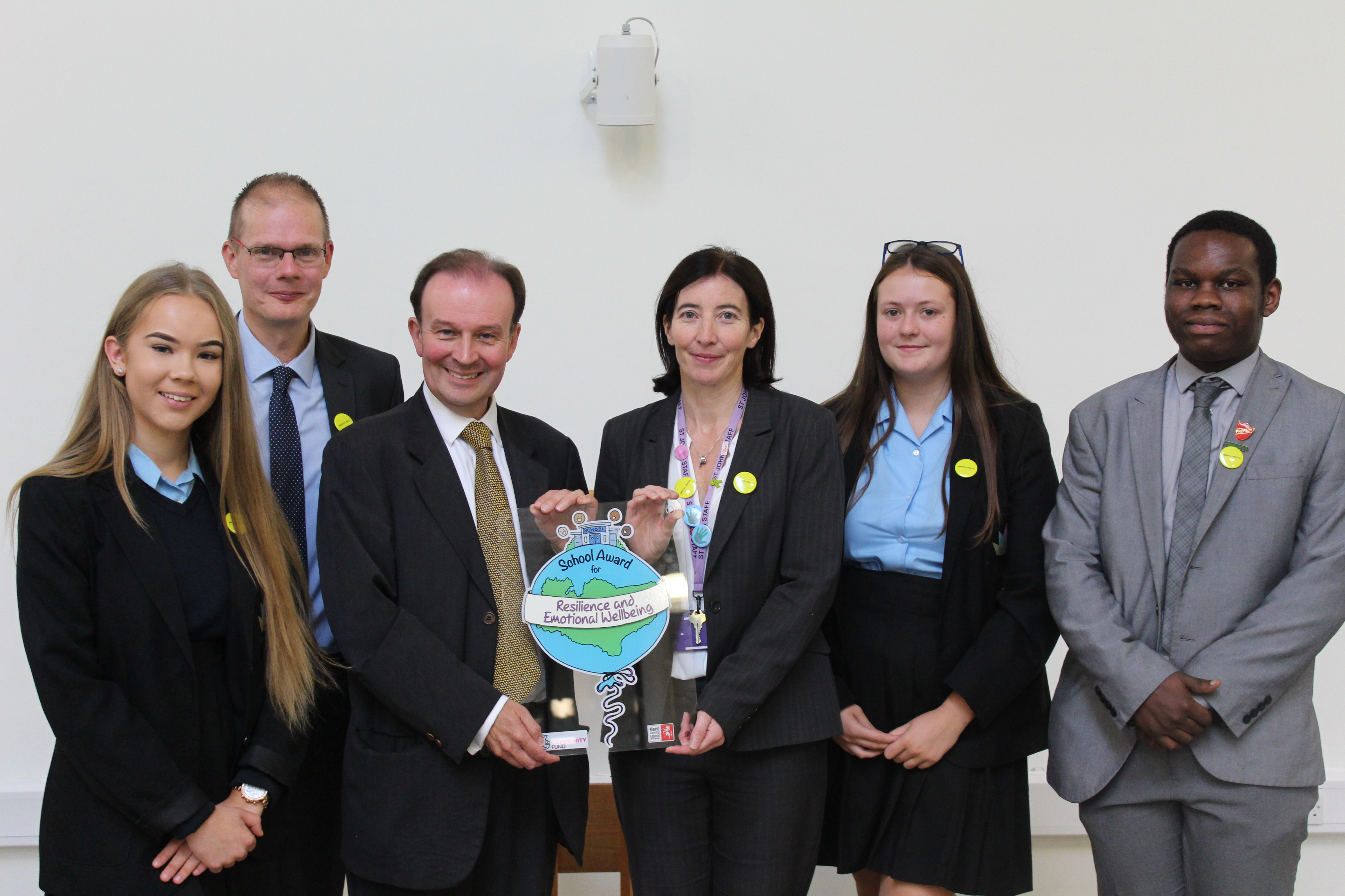 Third school receives Kent School Award for Resilience and Emotional Wellbeing