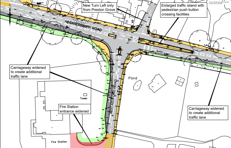 Junction improvement consultation in Faversham