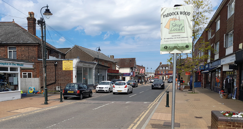 Views sought on walking and bike plan for Paddock Wood's Commercial Road