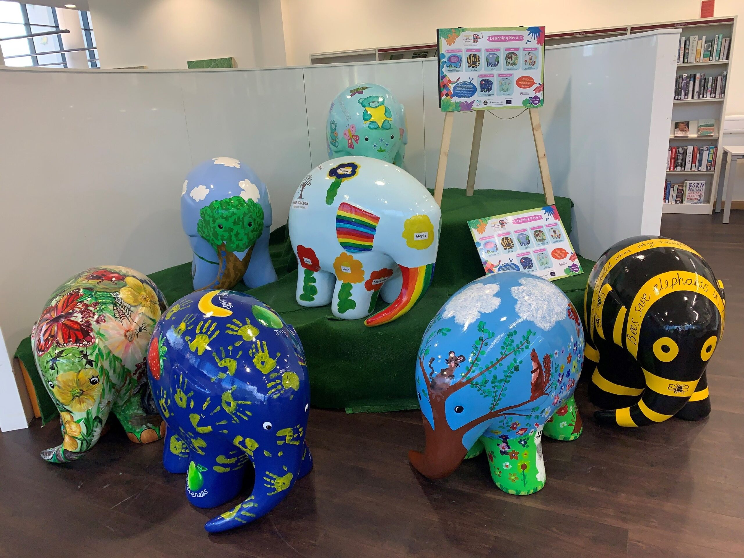 Elmer the Elephant arrives at the Kent History and Library Centre